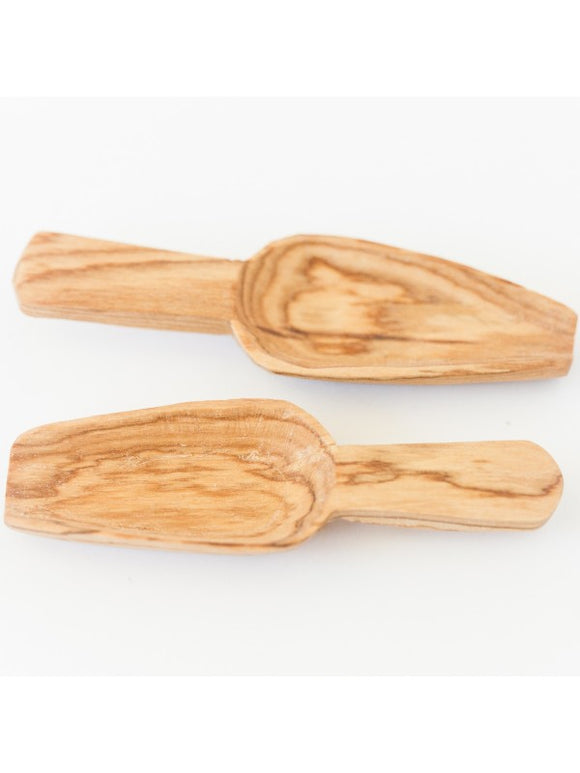 Olive Wood Mini Scoop Set