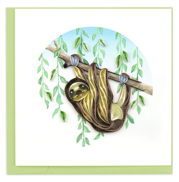 Sloth - Quilling Card