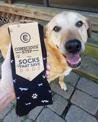 Socks - Saves Dogs (Black)