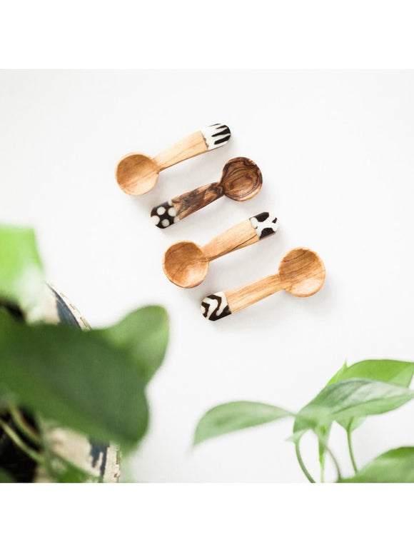 Olive Wood and Bone Tea Spoons