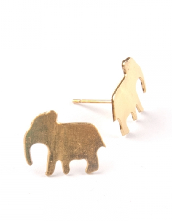 Earrings - Elephant Studs