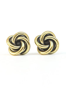 Earrings - Knotted Stud (Gold)