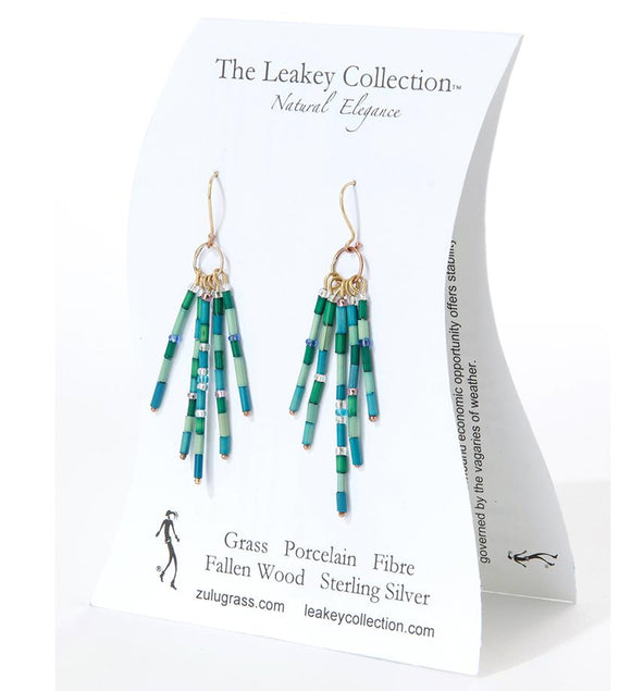 Zulugrass Jewelry - Earrings (Small Hoop Fringe)