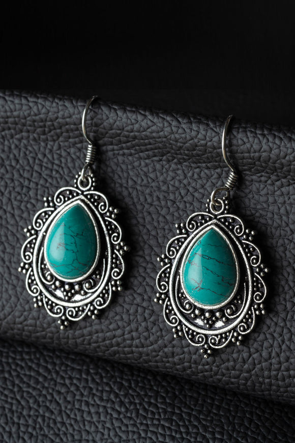 Earrings - Turquoise Raindrop