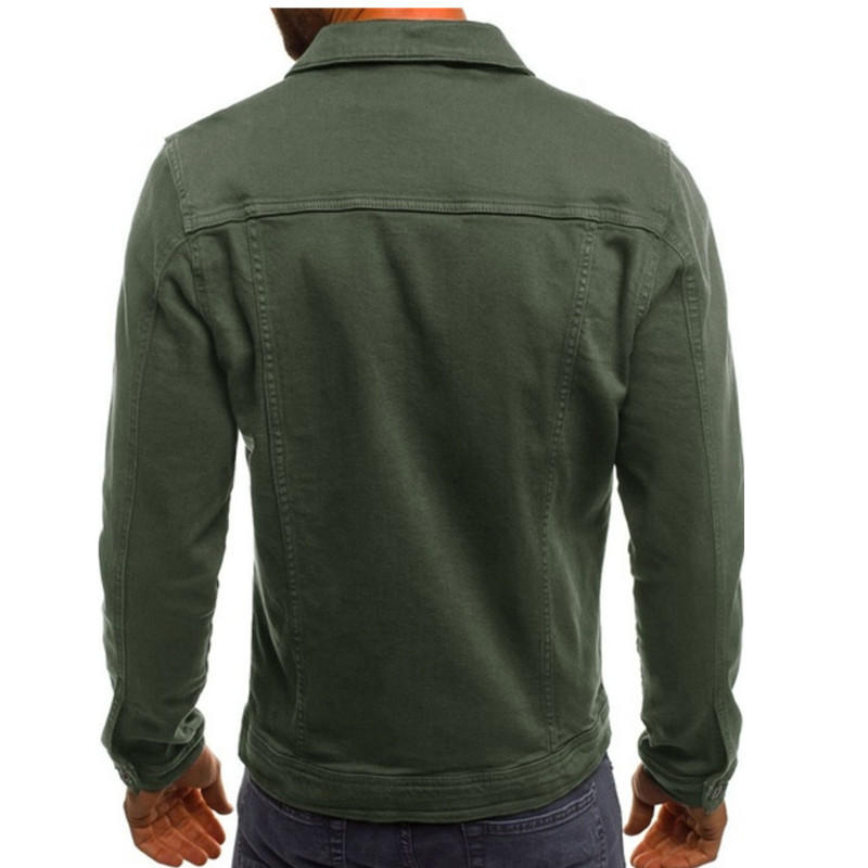 Mens Fashion Multi Pockets Solid Color Fit Casual Cargo Jacket