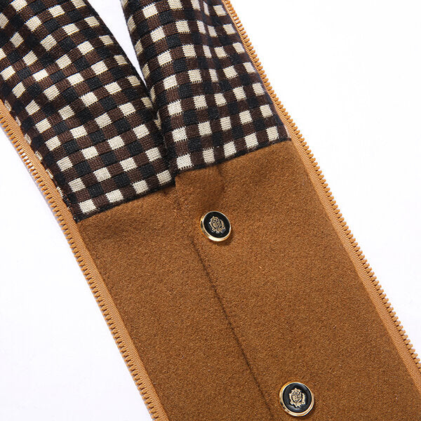 Mens Autumn Winter Casual Slim Fit Stand Collar Scarf Detachable Stylish Woolen Overcoat Jacket