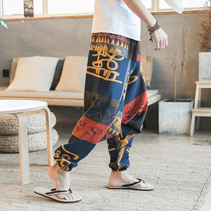Men's casual pants in the style of cotton breathable