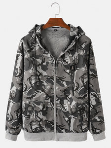 Men's outdoor camouflage sports suit in cool colors
