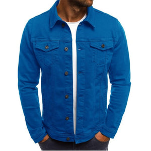 Solid color lightweight casual jacket