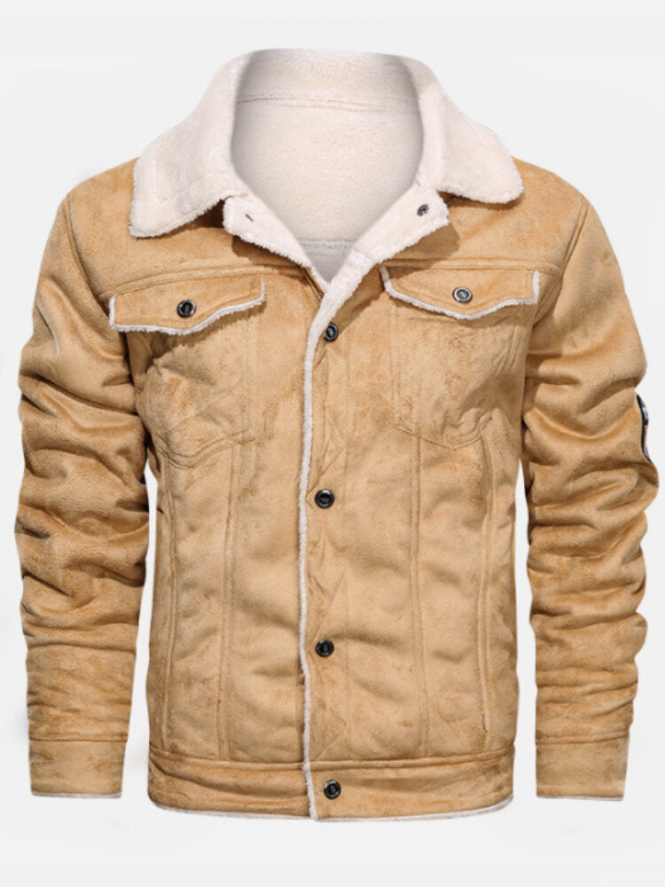Men's faux fur leather jacket