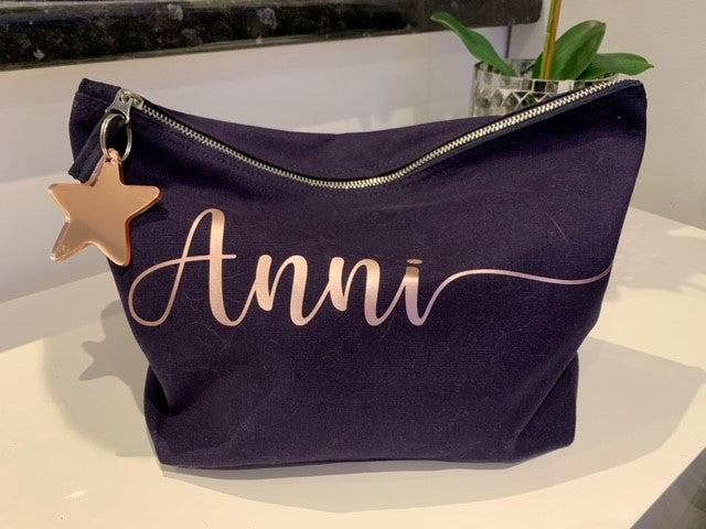 Personalised Brushed Cotton Accessory Bag