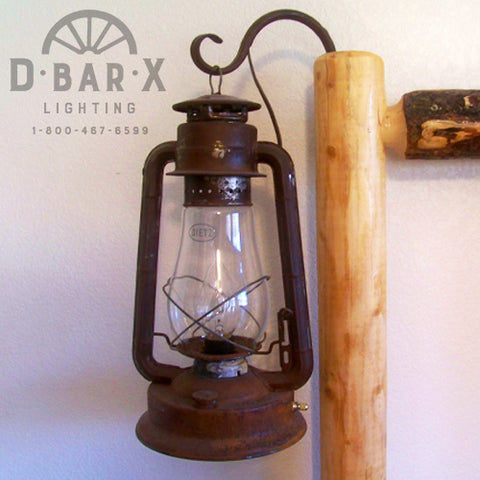 Photo of the DX815 Classic Rustic Lantern Bed Light sold by D Bar X Lighting.