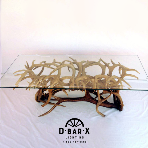 CT517 - Antler Coffee Table with Rectangle Glass Top