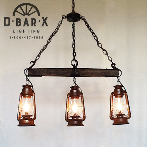 DX753-3: Bar Light with Single-Tree and Three Lanterns