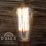 DX762: Industrial Wall Sconce With 2 Old-Fashioned Bulb Uplights