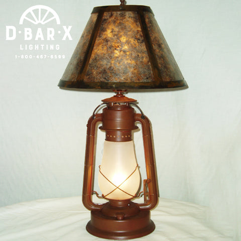 DX830: 15-Inch Lantern Table Lamp with Shade