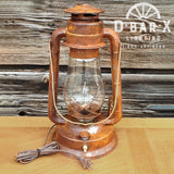 DX831-15: Rustic Lantern Table Lamp with Switch on Base