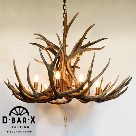 Photo of the ST310 antler chandelier by D Bar X Lighting.