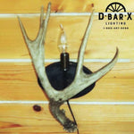 WE235 - Mule Deer Antler Wall Sconce with One Antler & One Light