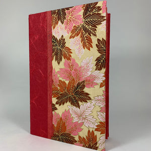 "Journal/Sketchbook (Coral Japanese paper/ Pink Floral Chiyogami) 8.75"" x 5.75"""