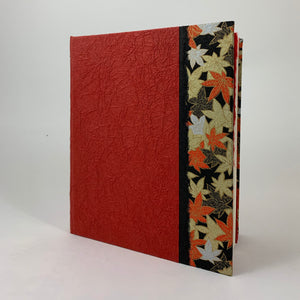 "Journal/Sketchbook (Red Momi/ Gold-Red-Black Leaf Chiyogami) 6.75"" x 5.75"""