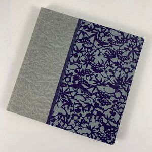 "Journal/Sketchbook (Gray Tojimbo/ Indigo-Gray Chiyogami) 5.75"" x 5.5"""