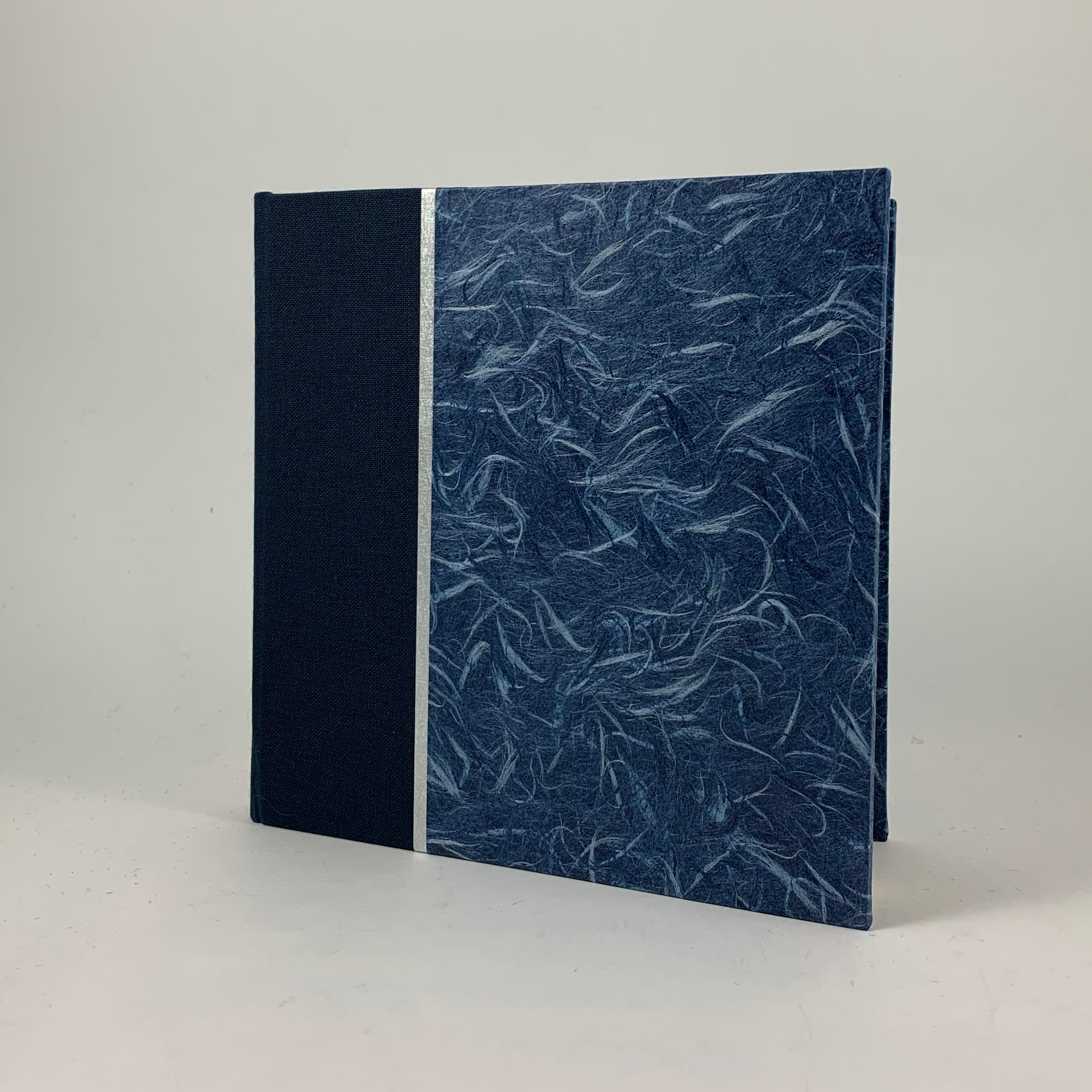 "Journal/Sketchbook (Navy Bookcloth/Blue Obonai) 5.75"" x 5.75"""
