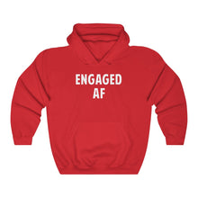 Load image into Gallery viewer, Engaged Af Letter Print Unisex Hoodie For Both Women And Men Long Sleeve Best For Bachelor Party