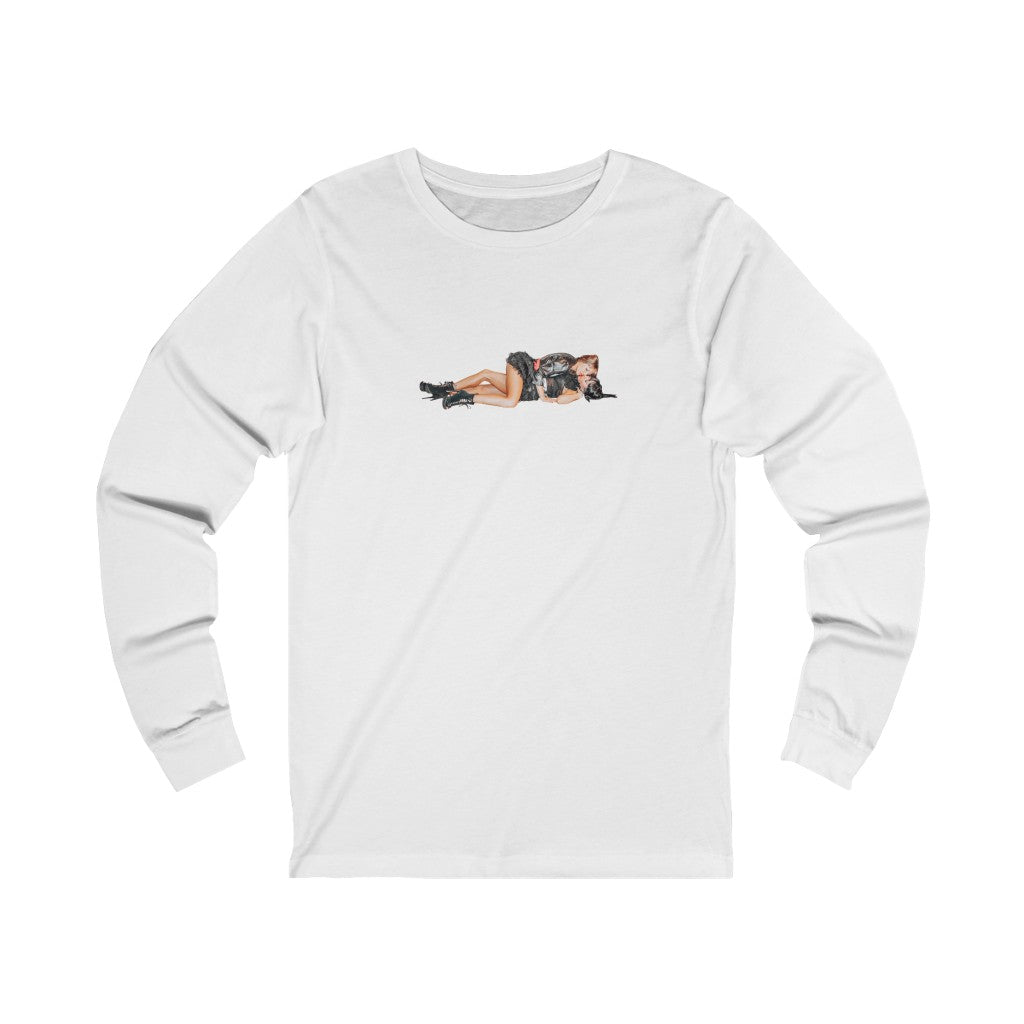 Sexy Printed Graphic Labeled Unisex Jersey Long Sleeve Tee