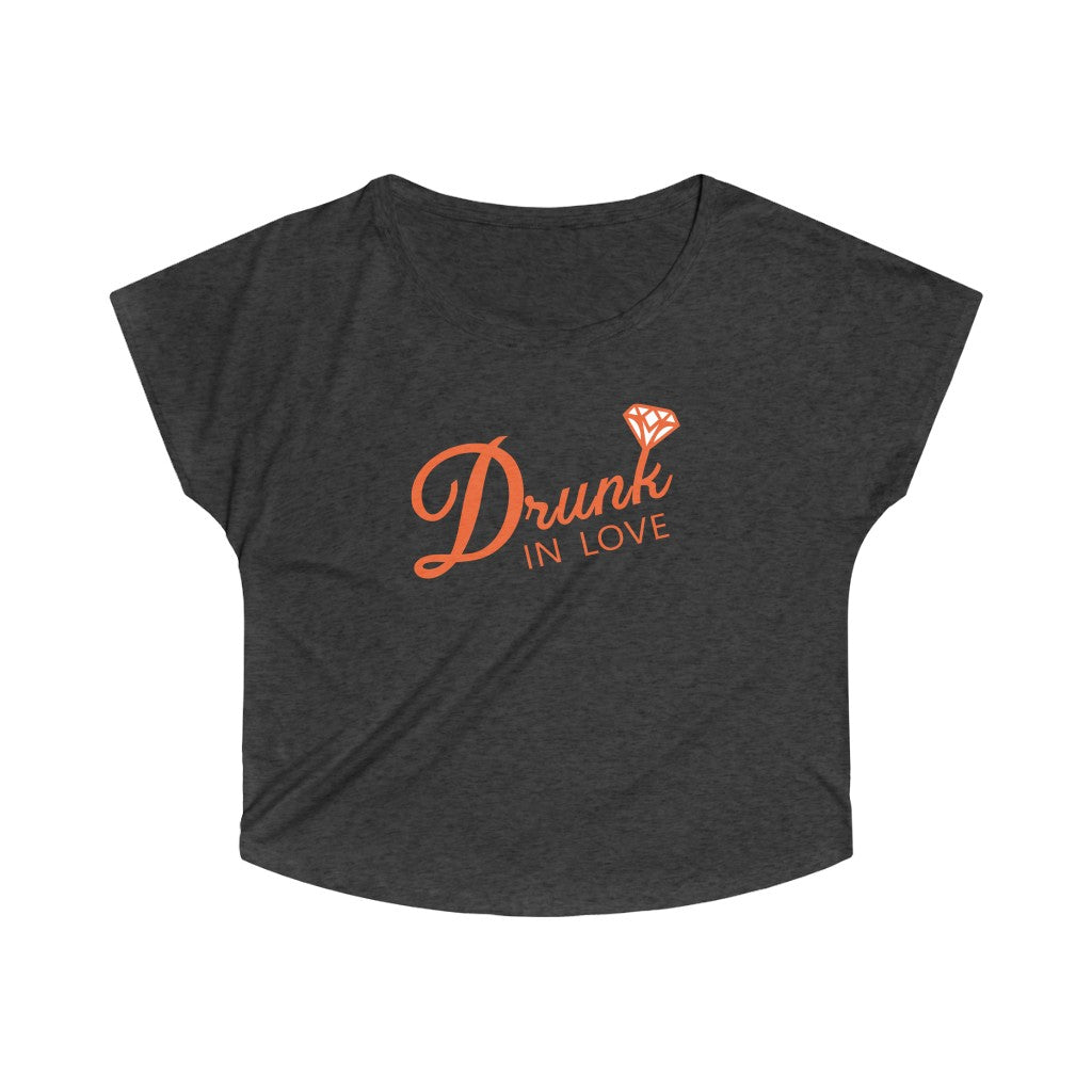 Drunk in Love Labelled T-shirt Women Casual Printed Short Sleeve Graphic Tee with Multicolor