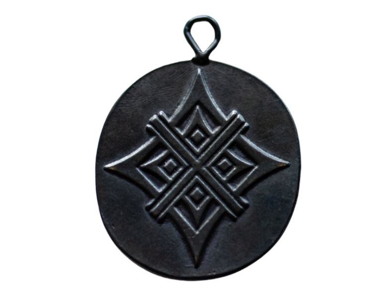 Oxidized  Bronze Artisan Tag