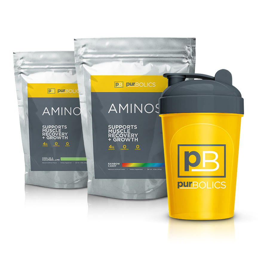DOUBLE AMINOS, CAFFEINE FREE STACK (FREE SHAKER)