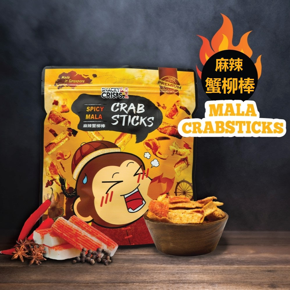 Snacky & Crisps Spicy Mala Crab Stick (80g)