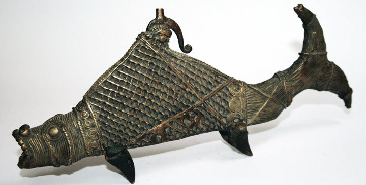 Old dhokra bronze fish