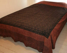 Load image into Gallery viewer, Fair trade block printed bed cover