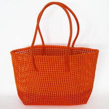 Load image into Gallery viewer, Fair trade market basket hand woven from recycled plastic