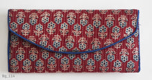 Load image into Gallery viewer, Block printed clutch bags