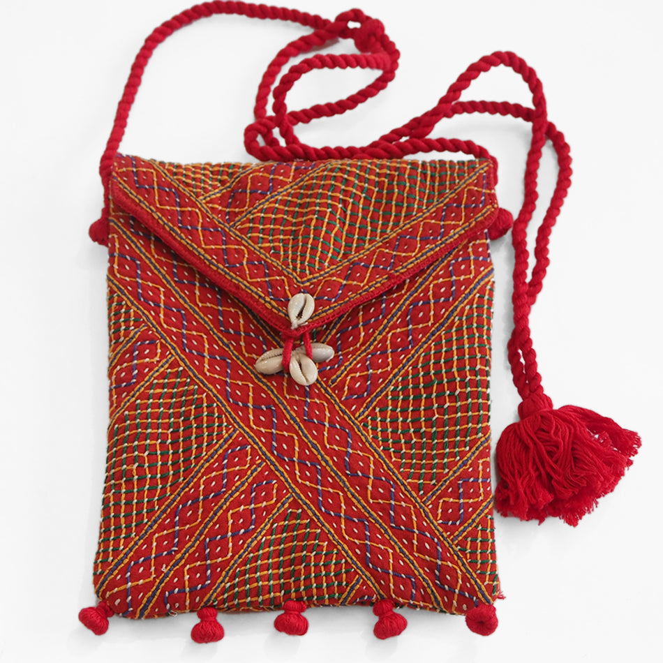 Fair trade embroidered sling bag