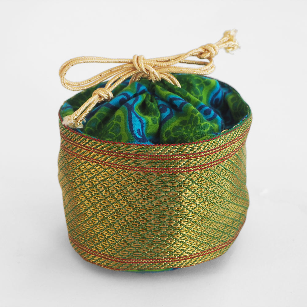 Fair trade Tiffin drawstring pouch