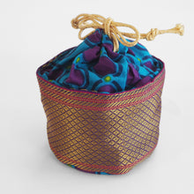 Load image into Gallery viewer, Fair trade Tiffin drawstring pouch