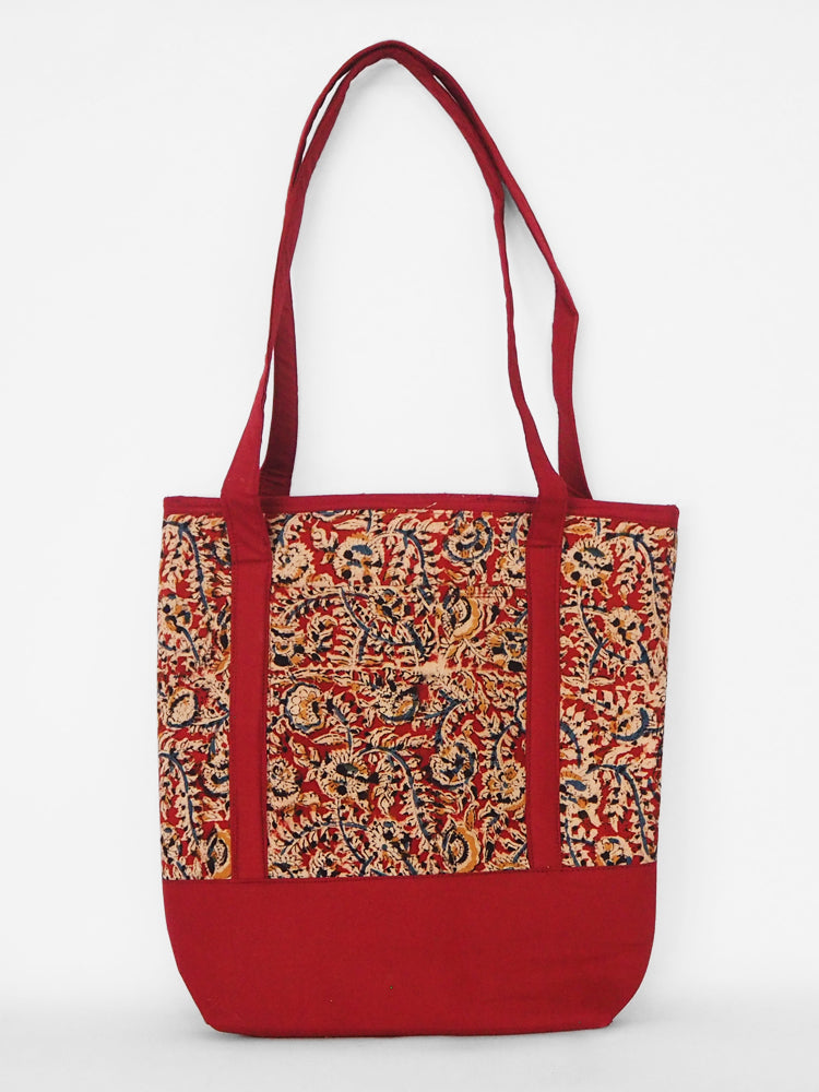 Hand made and fair trade Amudha tote bag