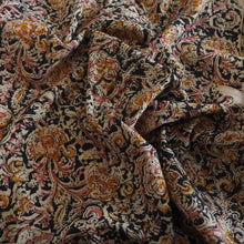 Load image into Gallery viewer, Hand block printed multicoloured Kalamkari cotton fabric