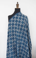 Load image into Gallery viewer, Hand block dabu printed indigo on cotton fabric