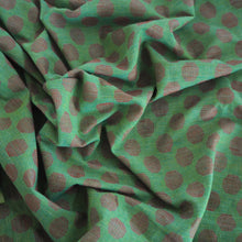 Load image into Gallery viewer, Pre-washed green/red jacquard cotton fabric - 2 metres