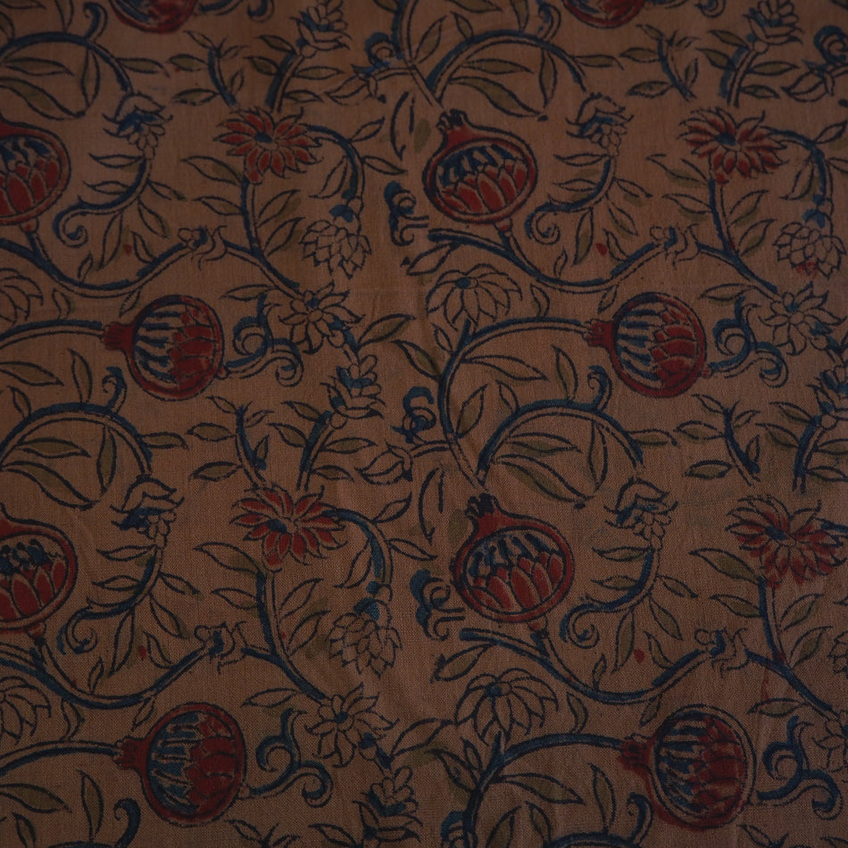 F_034  Kalamkari print on handloom washed cotton
