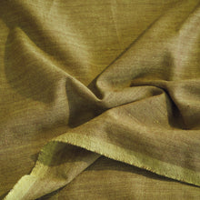 Load image into Gallery viewer, Hand woven ginger green cotton fabric