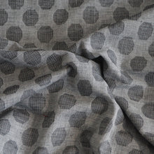 Load image into Gallery viewer, Pre-washed grey/dark grey jacquard cotton fabric