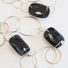 Load image into Gallery viewer, Hand made onyx and silver necklace