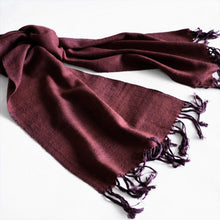 Load image into Gallery viewer, Hand spun pashmina scarf
