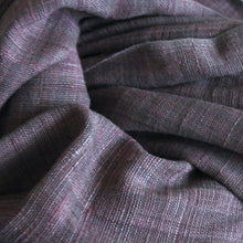 Load image into Gallery viewer, Hand woven organic cotton & eri silk (non-violent) shawl